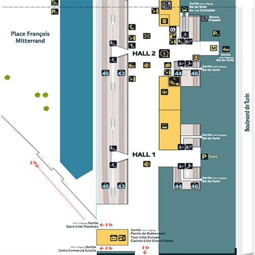 plan-acces-interieur-et-exterieur-gare-lille-europe-hall-1-et-2