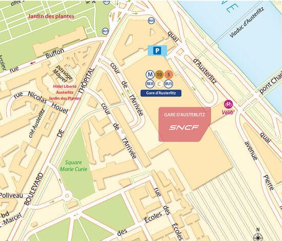 plan-acces-exterieur-gare-paris-austerlitz