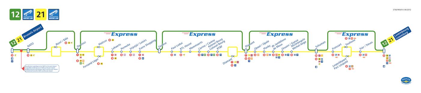 Itinéraire du trajet de l'Airport Line